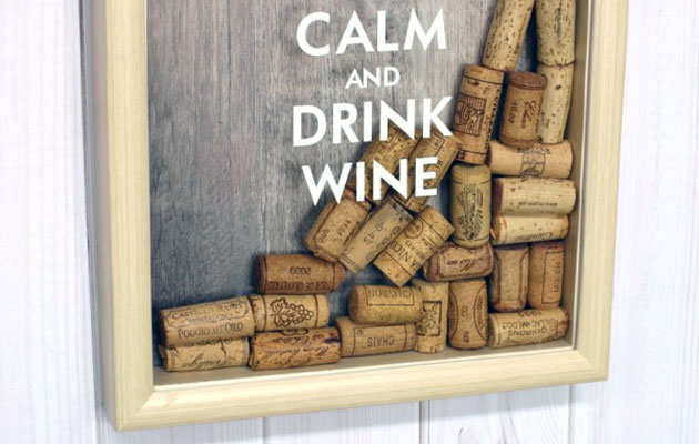 "Копилка для винных пробок ""Keep calm and drink wine"""